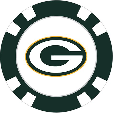 Green bay packers poker chips png 600x602